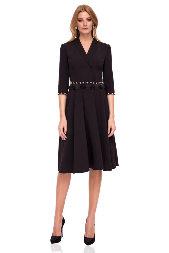 Midi dress with waist detail