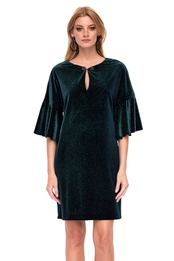 Loose velvet dress