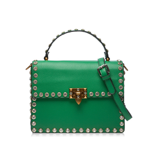 Elegant bag with metallic closure