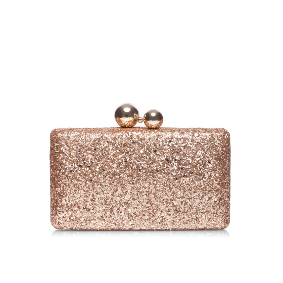 Elegant clutch with glitter