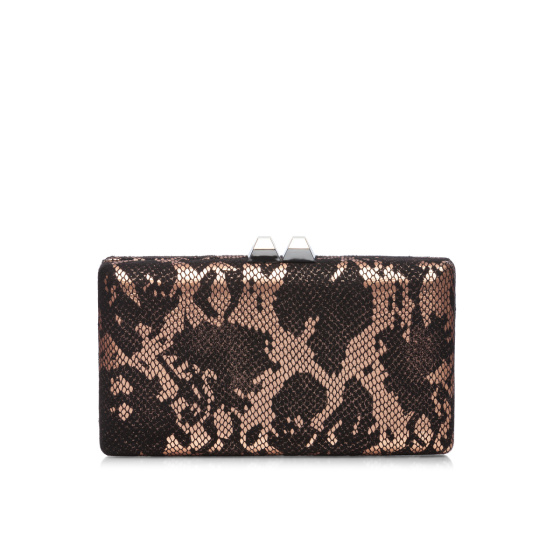 Elegant clutch with snake print