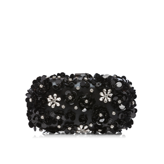 Sparkling clutch with 3D flowers