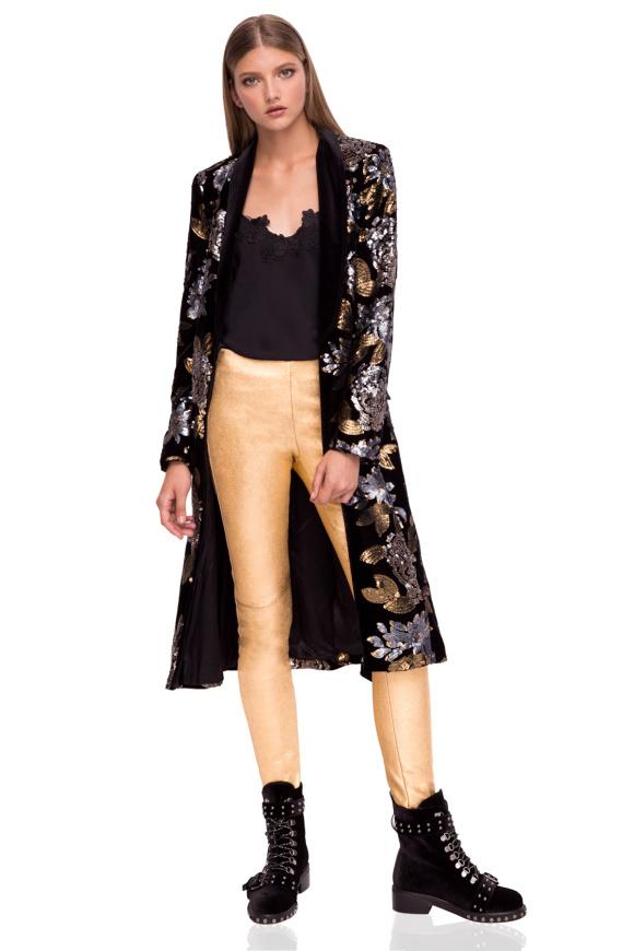 Jacheta din catifea cu paiete
