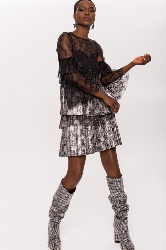 Silver lace degrade dress