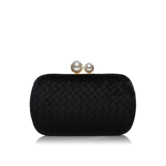 Clutch elegant cu detaliu tip perla