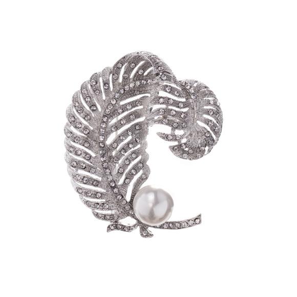 Brosa stralucitoare cu dtaliu tip perla