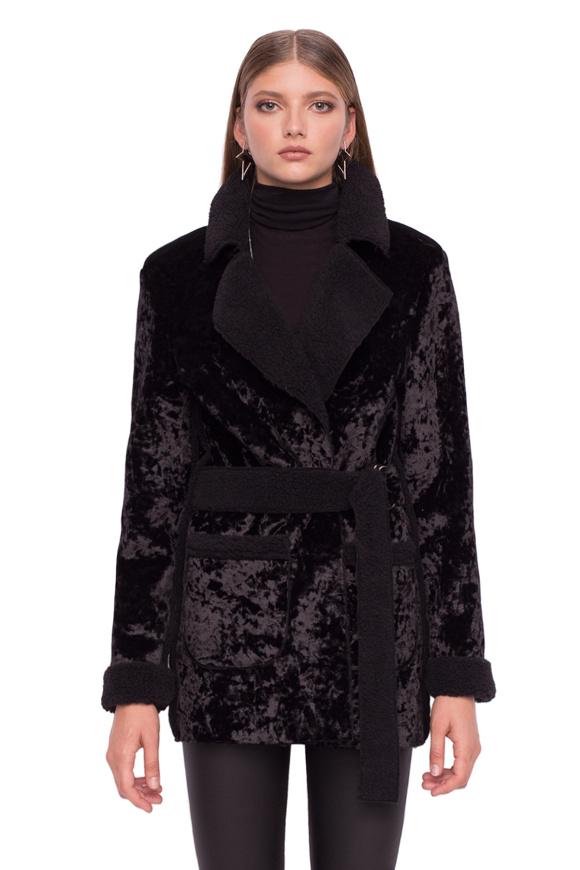 Jachetă cu cordon in talie