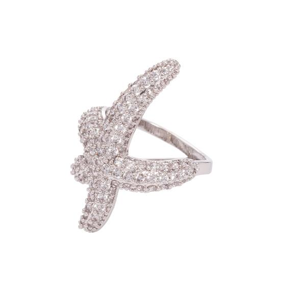 Inel argintiu in forma de stea