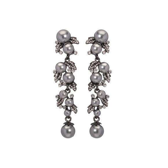 Cercei candelabru cu perle incrustate