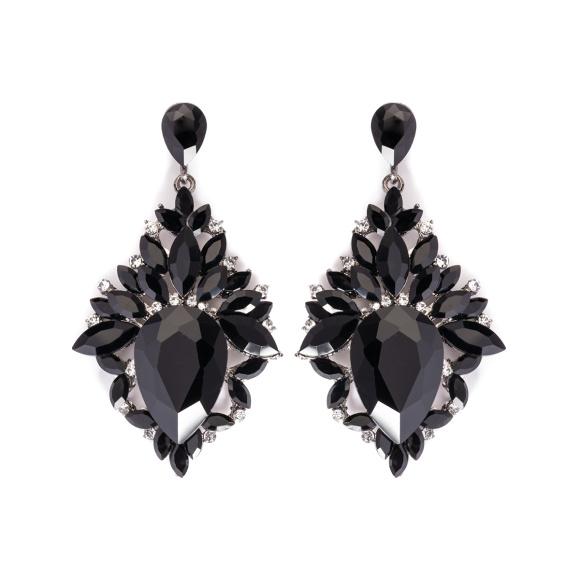 Cercei cu cristale negre