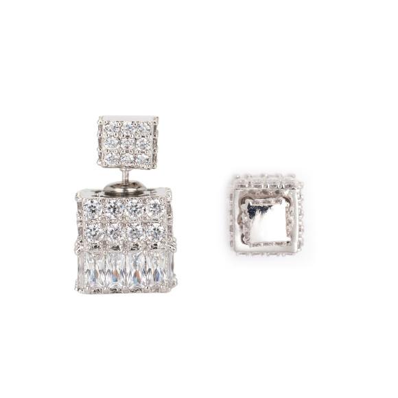 Cercei cu cristale de zirconiu cubic