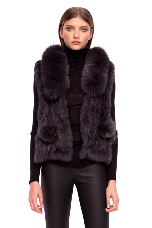 Natural fur vest