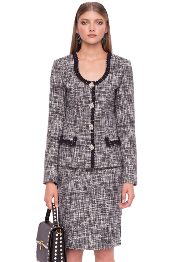 Blazer with textured fabric