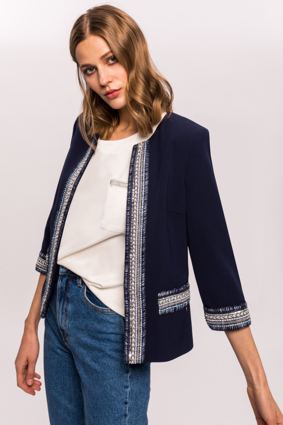 Office embellished jacket