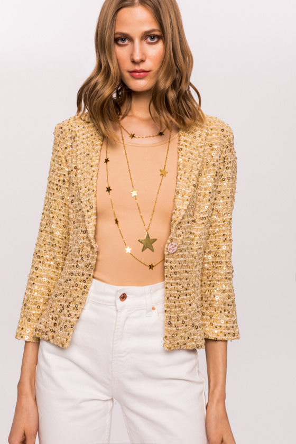 Seqiuns jacket with 3/4 sleeve