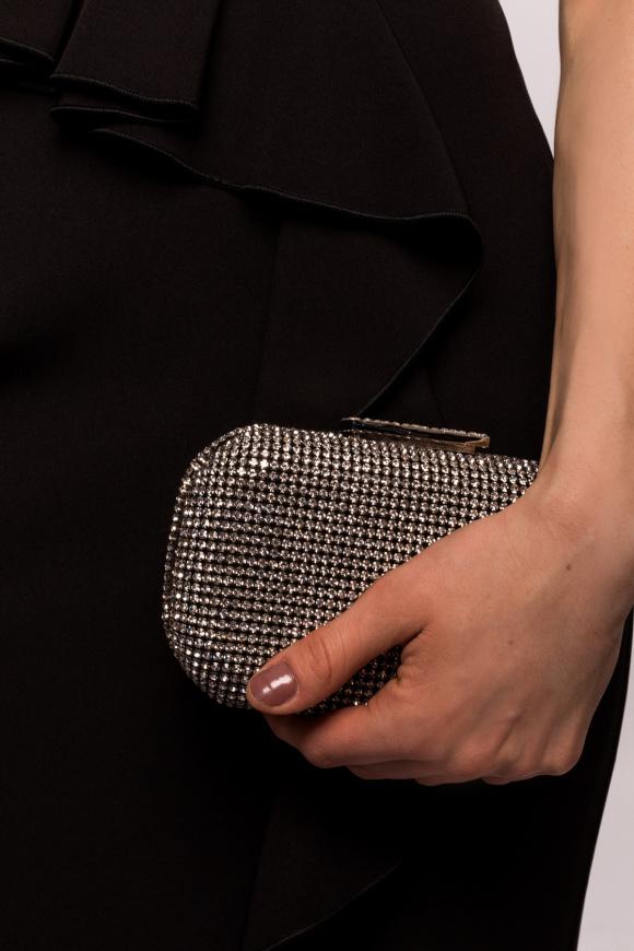 Glass stones clutch
