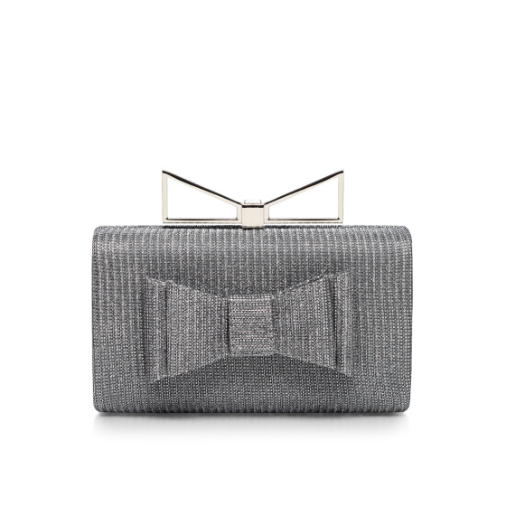 Stylish clutch with ribbon details