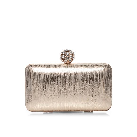 Clutch with jewelery lock