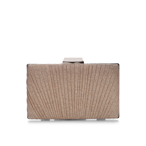 Shining clutch with folds
