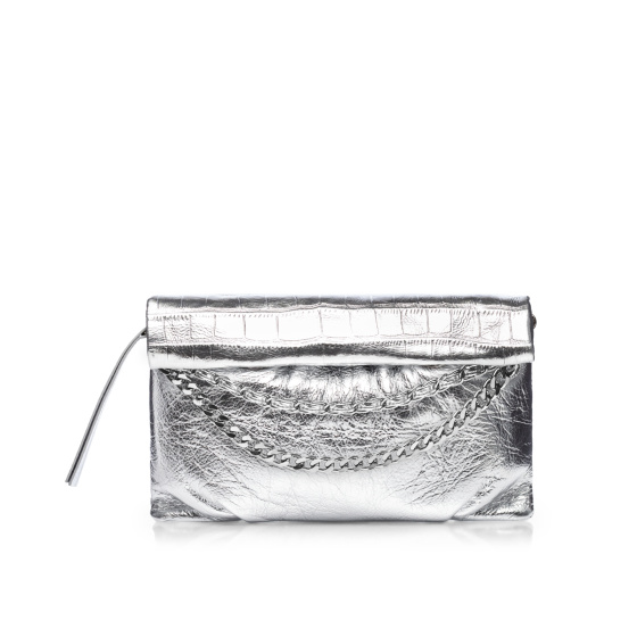 Natural leather envelope bag