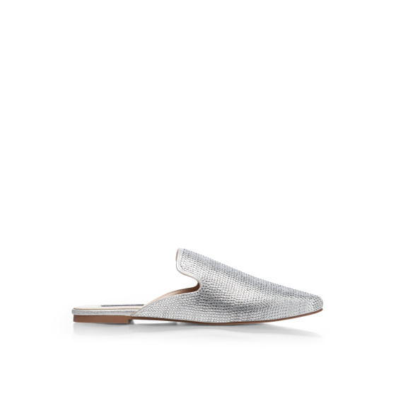 Crystal embellished loafers