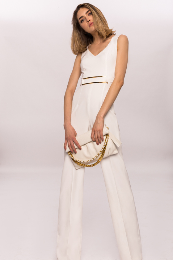 Jumpsuit with waist detail