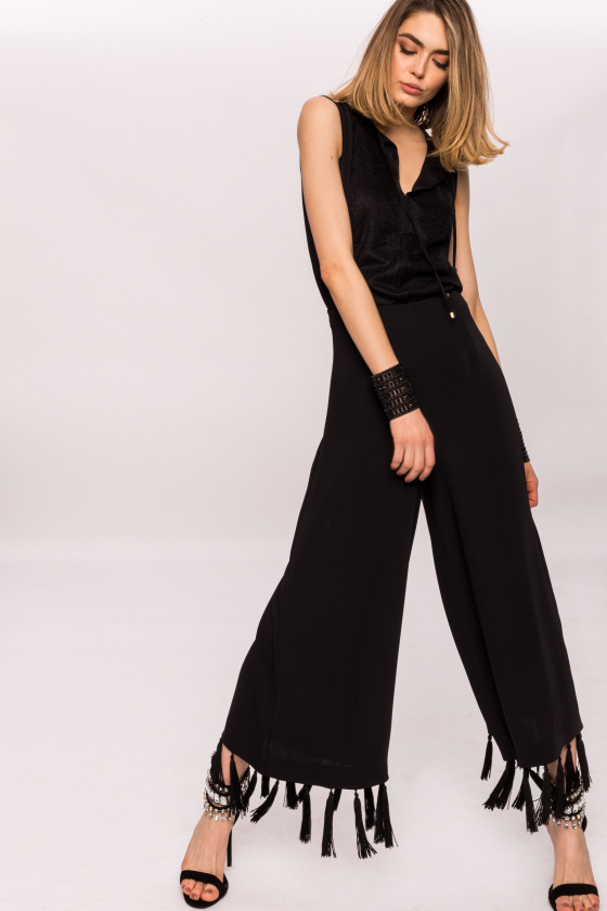 Culottes pants with fringes