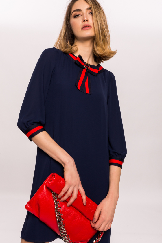 Mini dress with contrasting details
