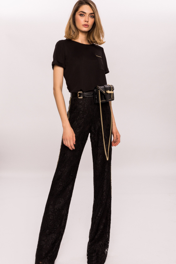 Crystal side stripe pants