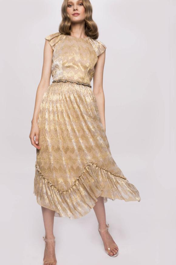 Precious applications golden dress