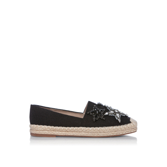 Crystal applied espadrilles