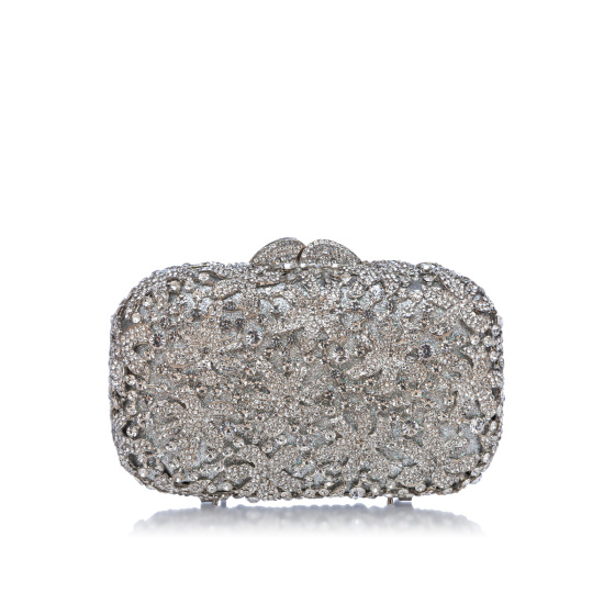Jewellery embellished clutch