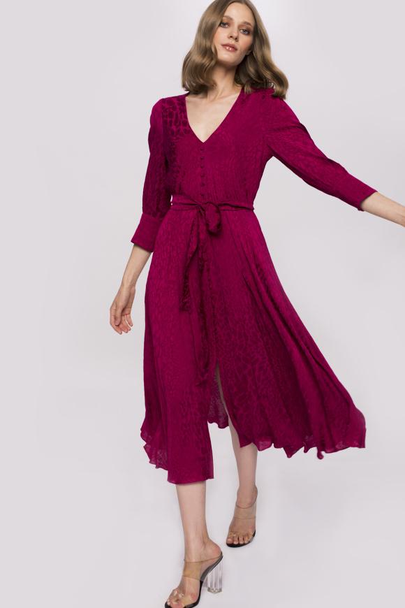 Viscose animal print dress