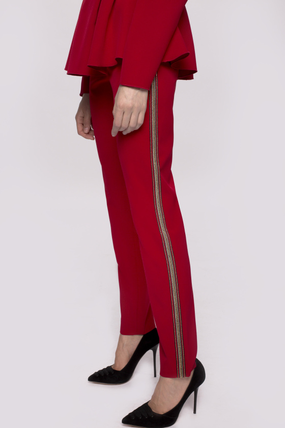 Contrasting side stripe trousers