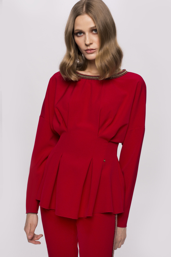 Bodycon top with neck detail