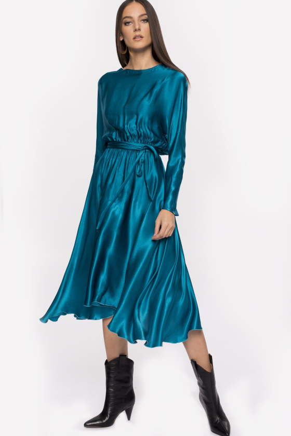 Elastic waist viscose dress