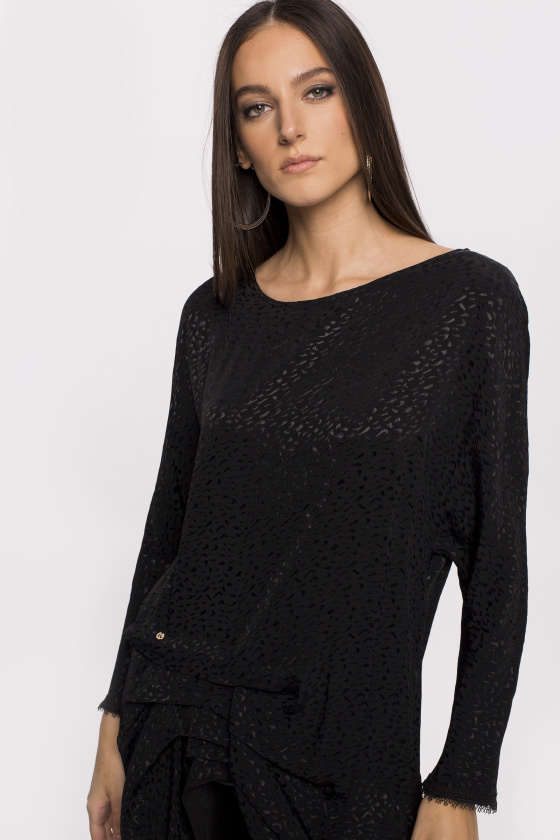 Veil insert asymmetrical top