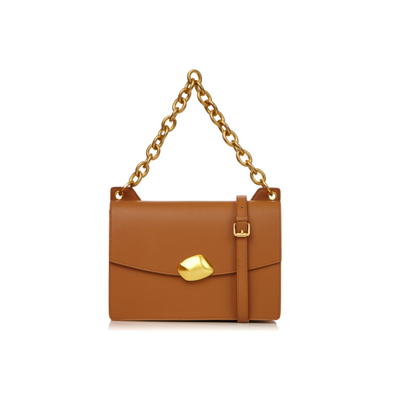 Adjustable strap natural leather bag