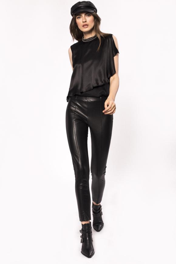 Pantaloni skinny din piele ecologica
