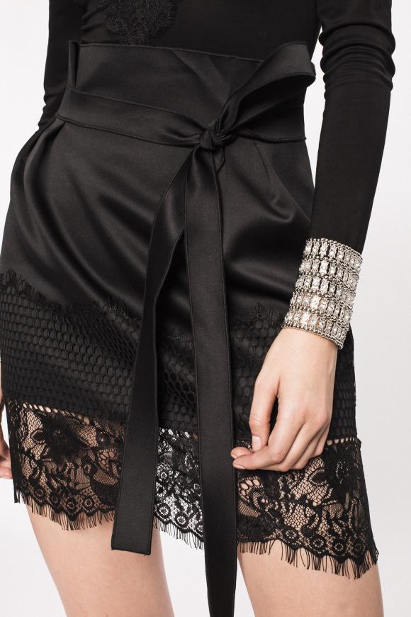 Lace insert skirt