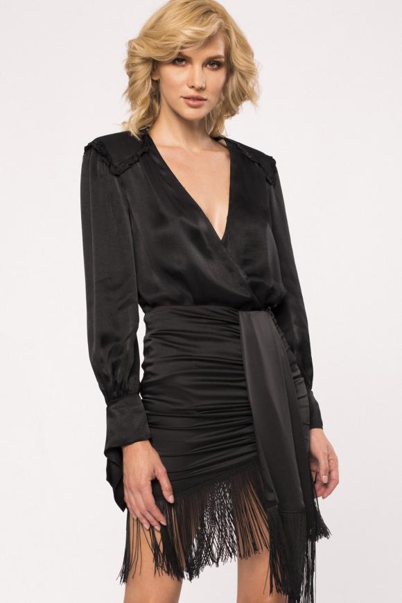V-neck viscose blouse