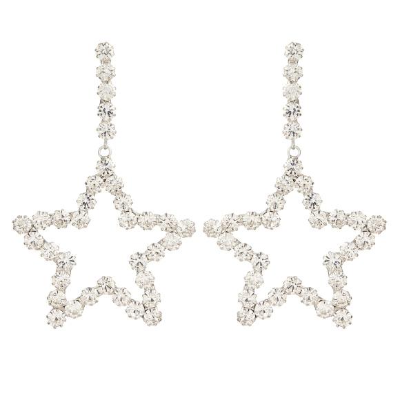 Cercei cu cristale in forma de stea