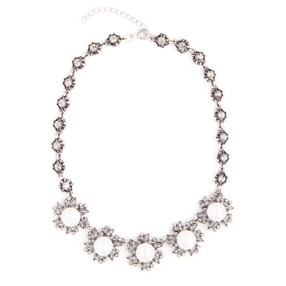 Colier cu cristale si perle
