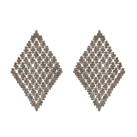 Cercei forma geometrica cu cristale