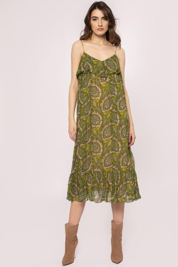 Rochie din vascoza cu bretele subtiri