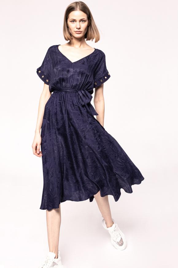 Waist detail viscose dress