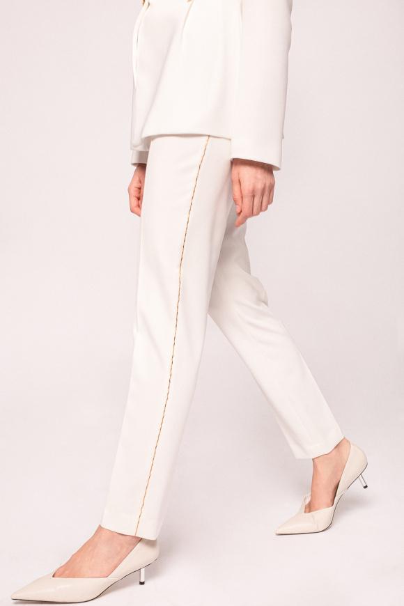 Side detail slim pants