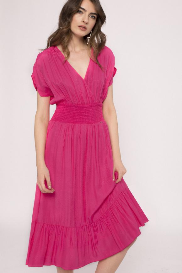 Rochie din vascoza cu elastic in talie