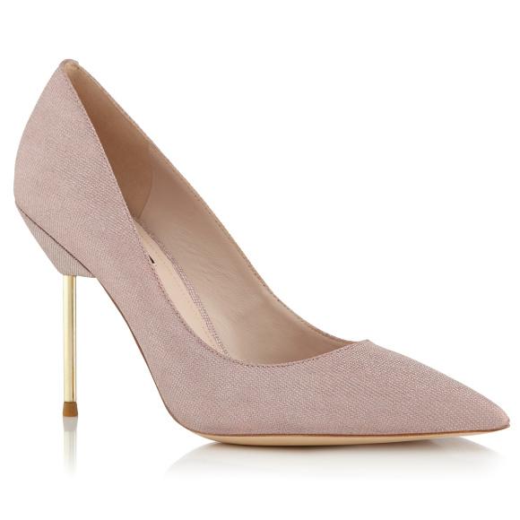 Pantofi stiletto cu toc metalic