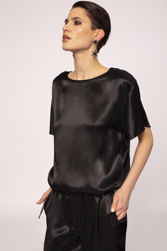 Satin effect viscose top
